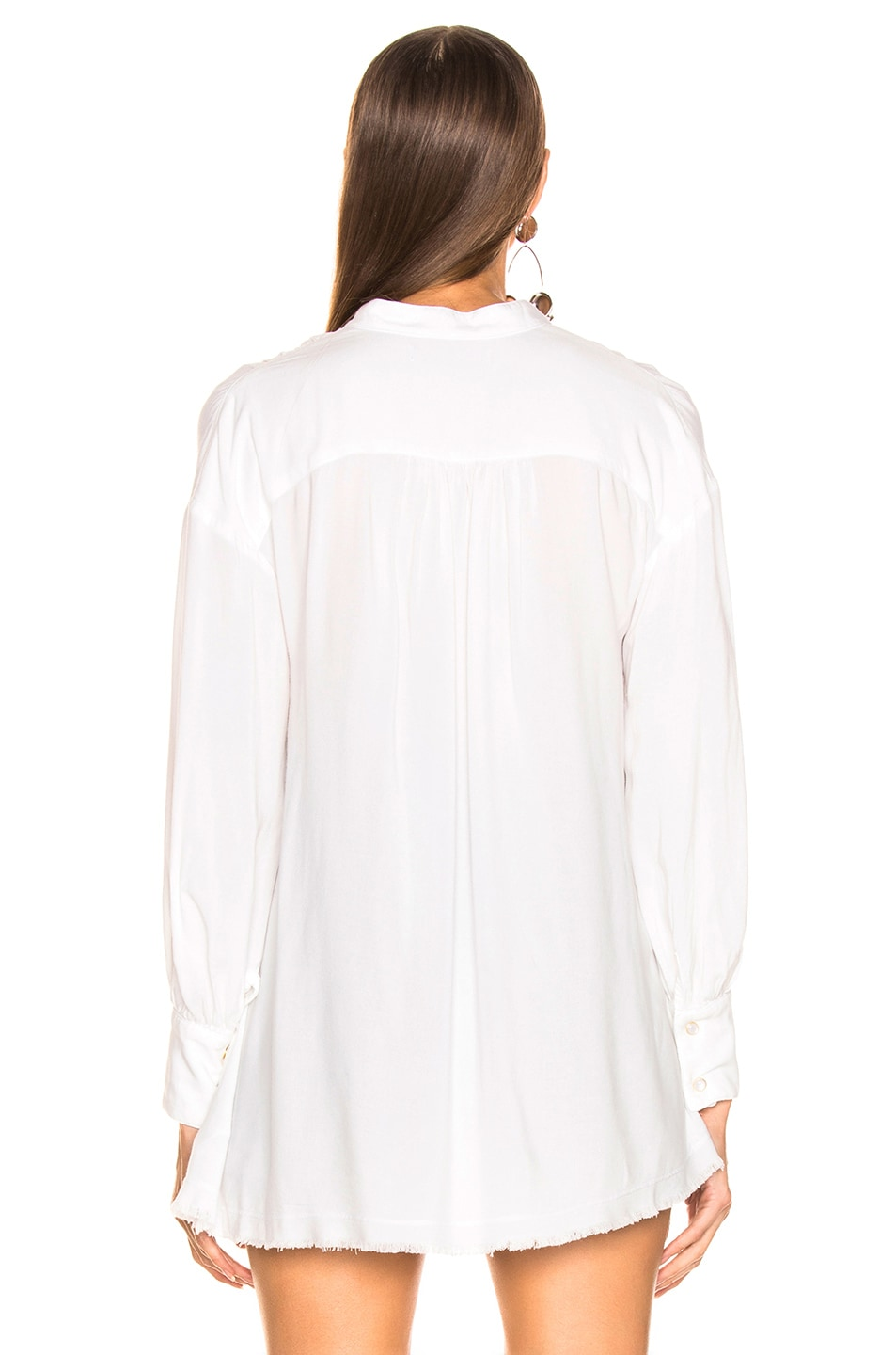 Image 3 of LAUREL & MULHOLLAND Canyon Peasant Tunic Top in White