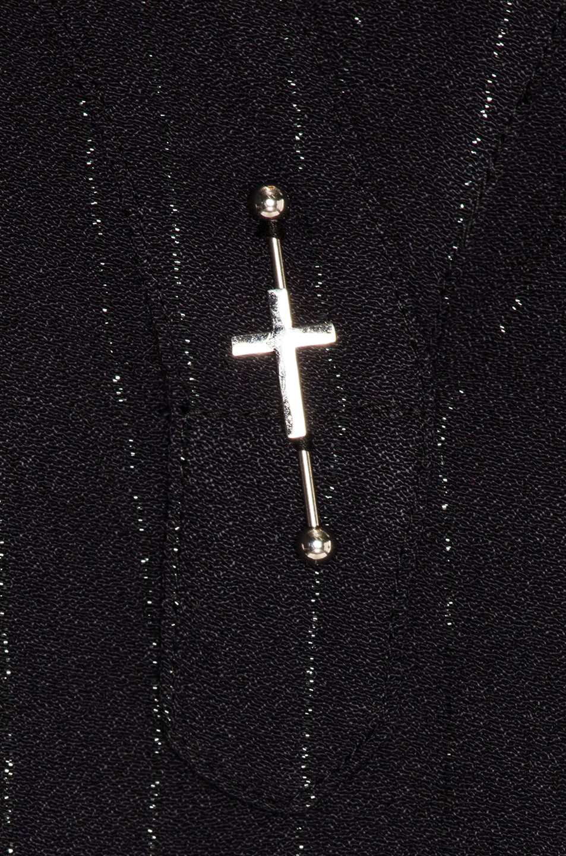 Image 5 of LAUREL & MULHOLLAND Electric Jesus Tunic Top in Black
