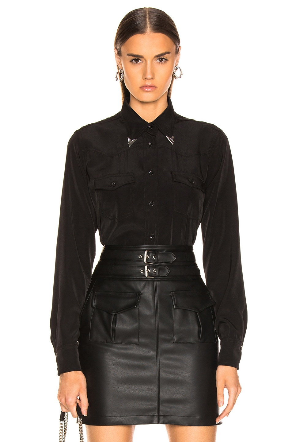 Image 1 of LAUREL & MULHOLLAND Kirkwood Shirt in Black