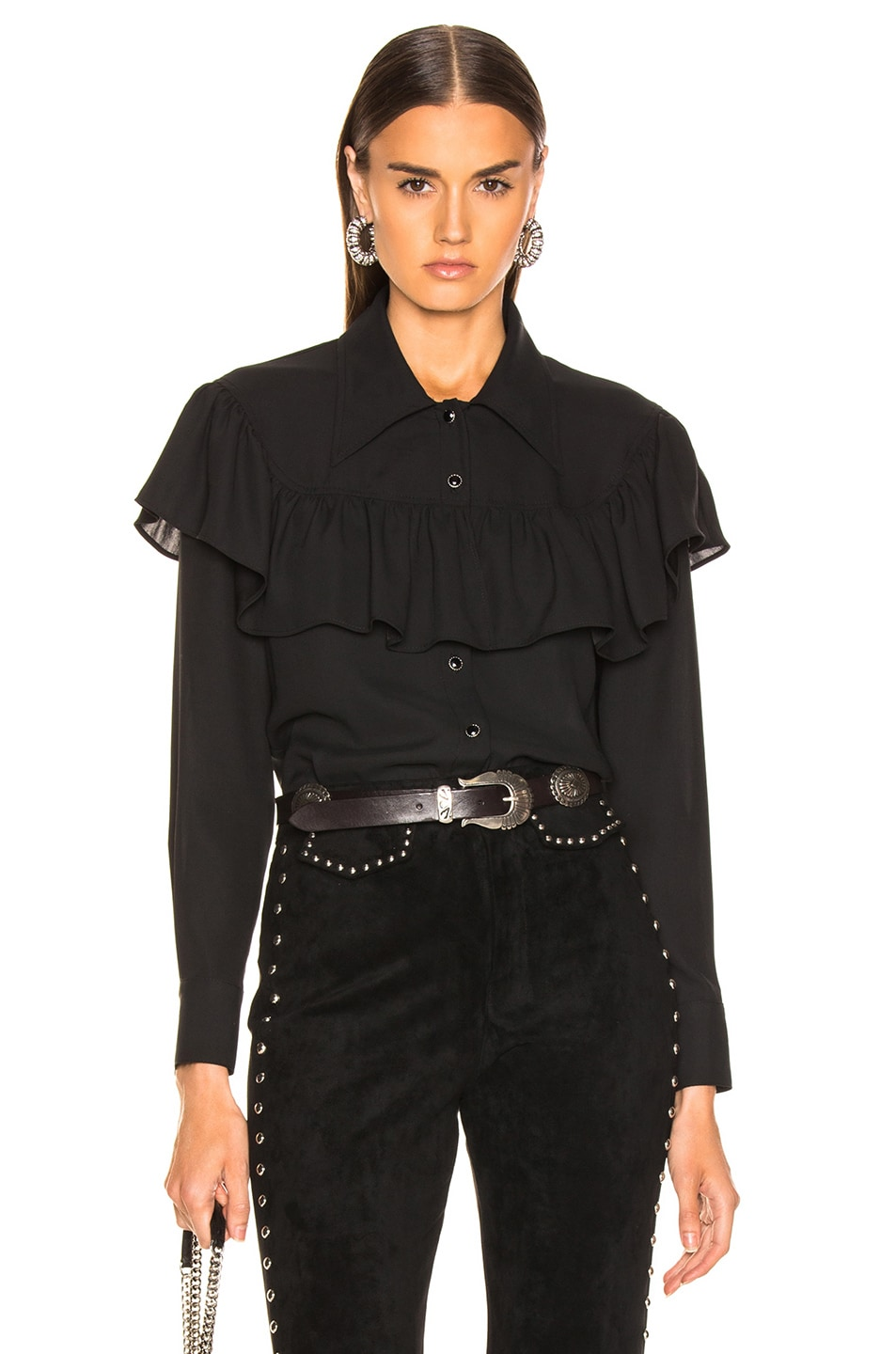 Image 1 of LAUREL & MULHOLLAND Ladies of the Canyon Blouse in Black