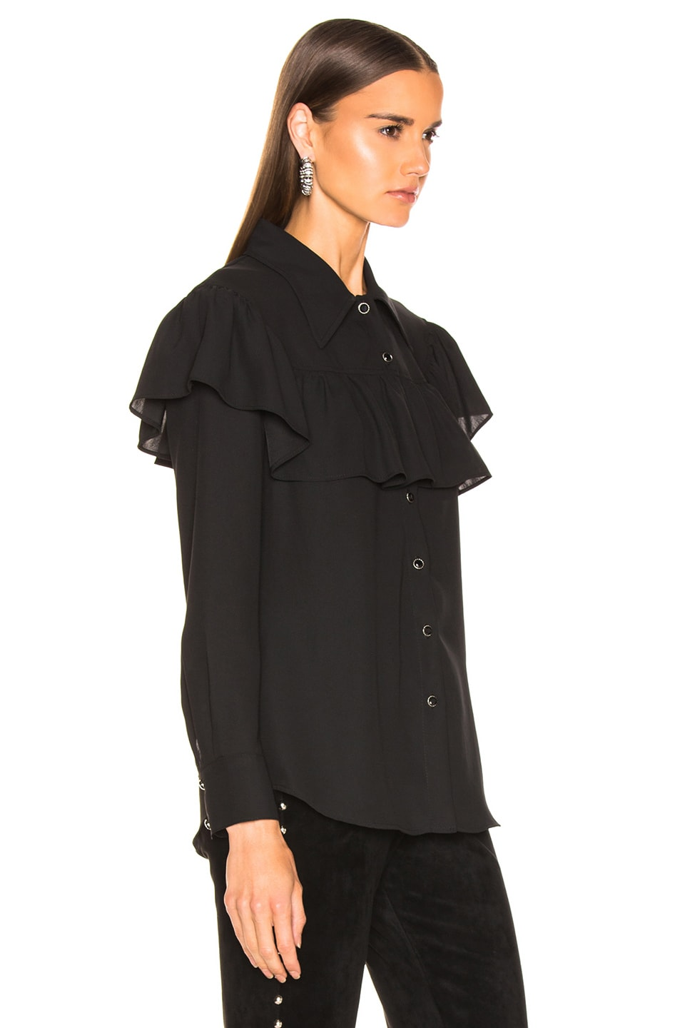 Image 2 of LAUREL & MULHOLLAND Ladies of the Canyon Blouse in Black
