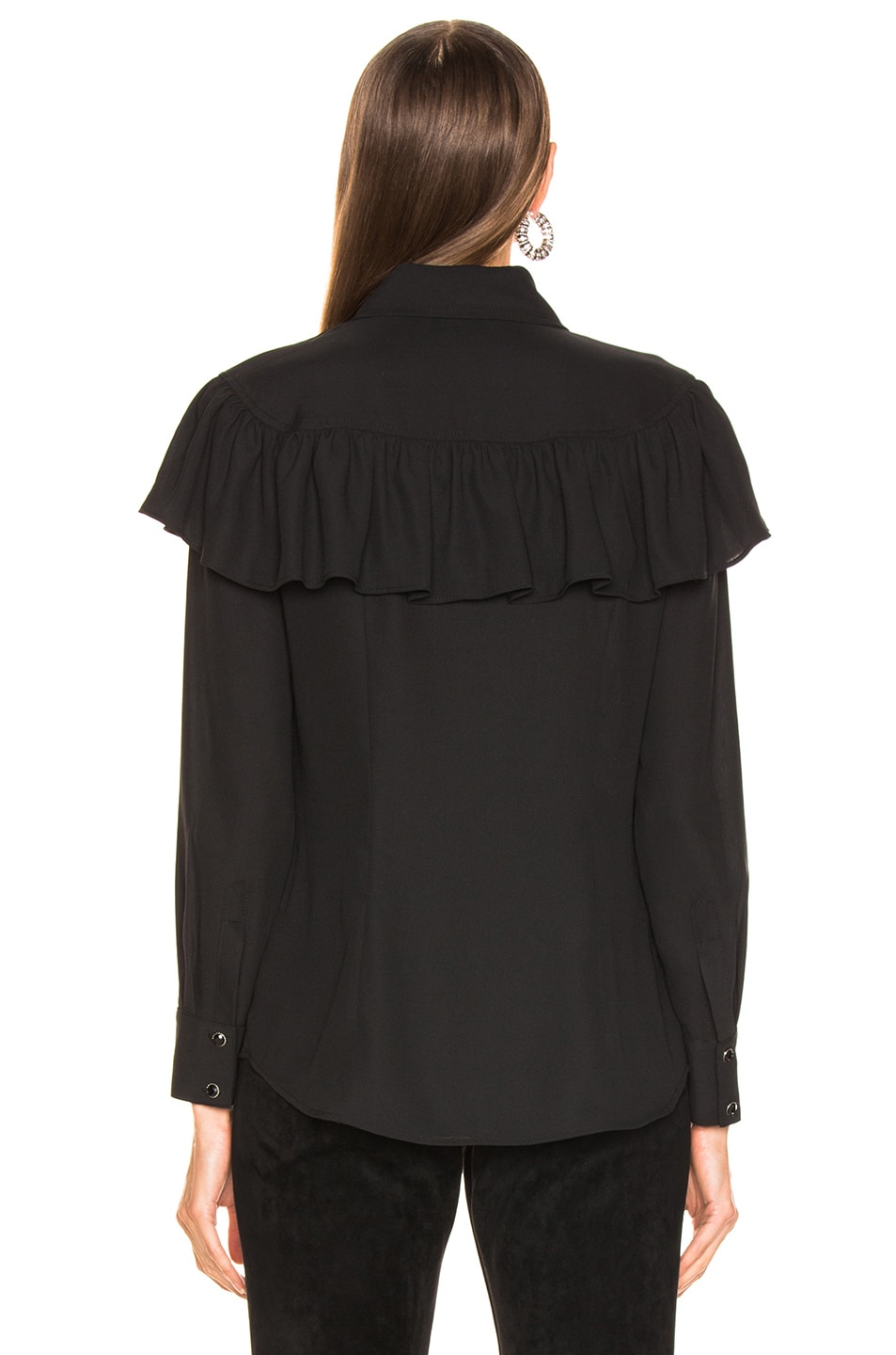Image 3 of LAUREL & MULHOLLAND Ladies of the Canyon Blouse in Black