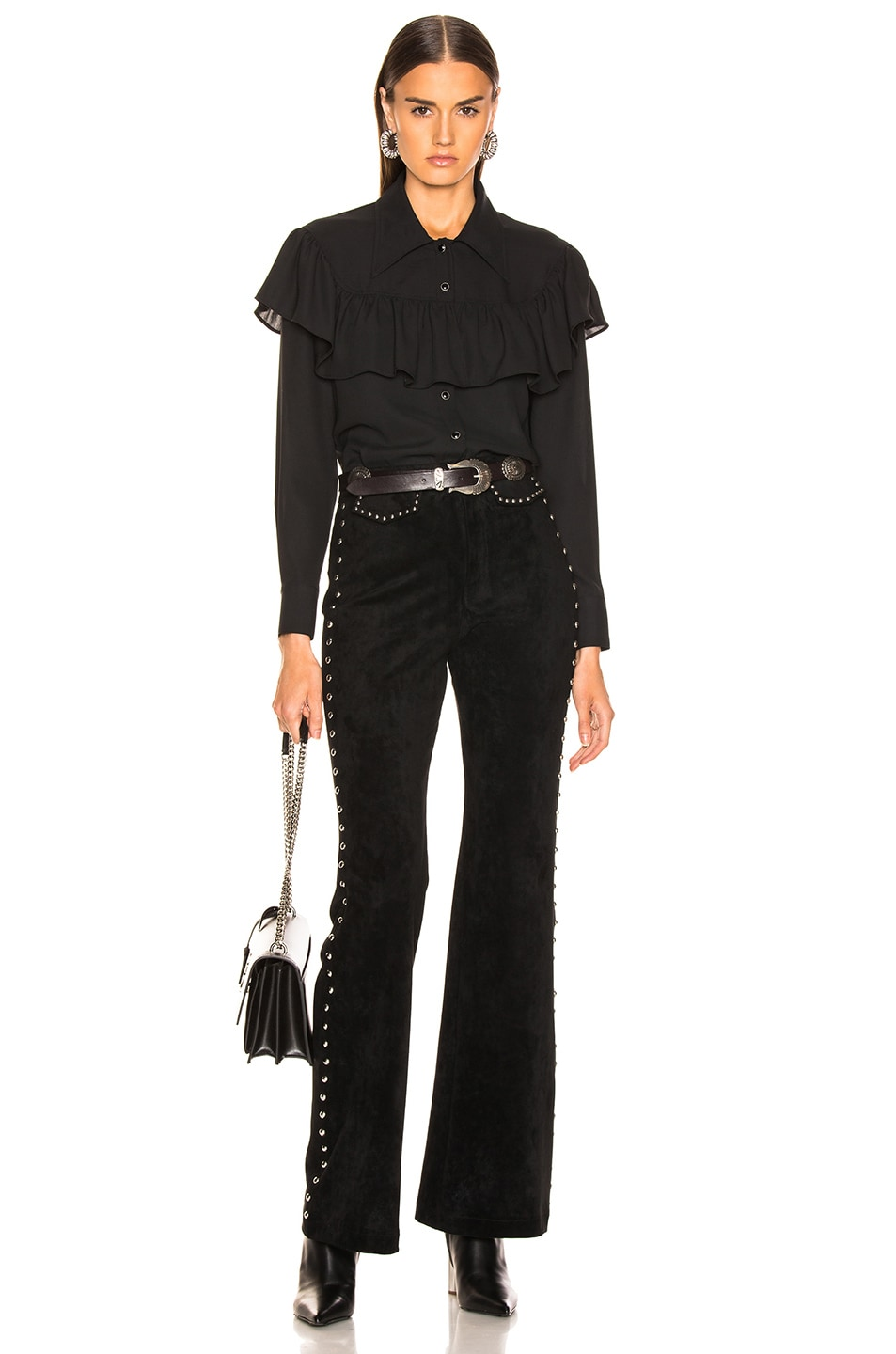 Image 4 of LAUREL & MULHOLLAND Ladies of the Canyon Blouse in Black