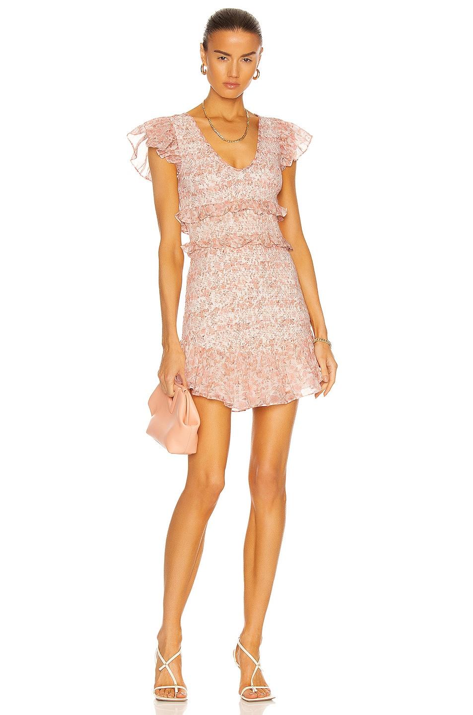 Image 1 of LoveShackFancy Sonora Dress in Vanilla Foam