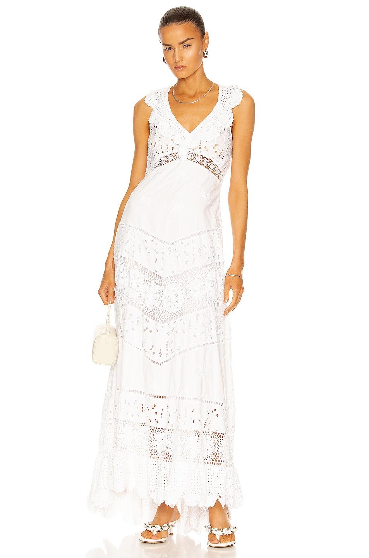 Image 1 of LoveShackFancy Hasina Gown in True White