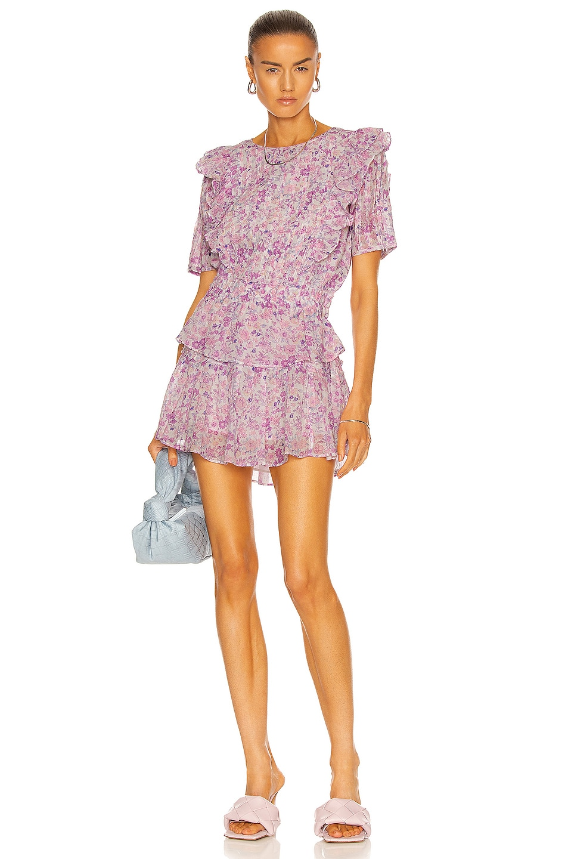 Image 1 of LoveShackFancy Natasha Dress in Purple Iris