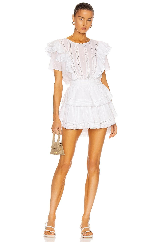 Image 1 of LoveShackFancy Natasha Dress in White