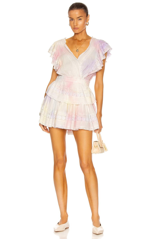 Image 1 of LoveShackFancy Gwen Dress in Multi Tie Dye