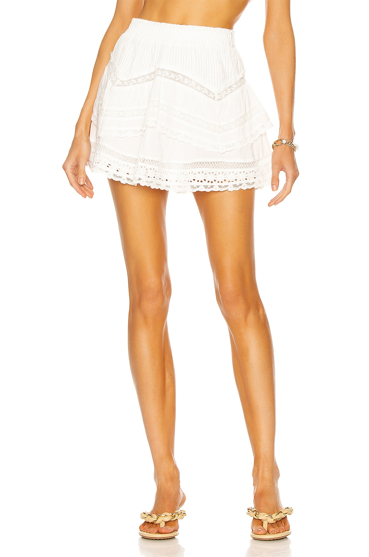Image 1 of LoveShackFancy Abrielle Skirt in True White