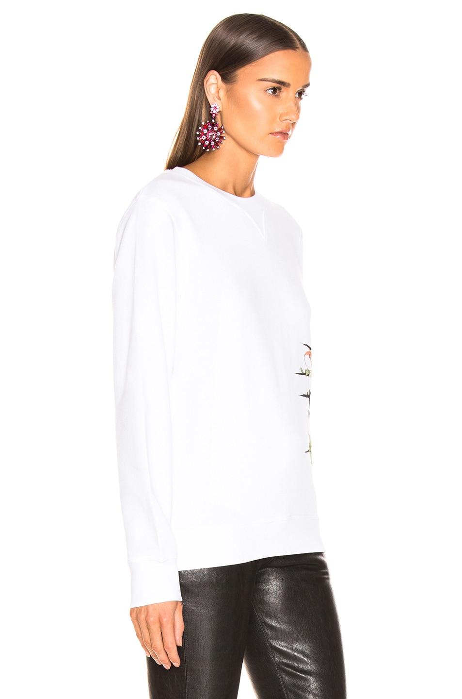 Image 3 of Loewe Logo Botanical Sweatshirt in White