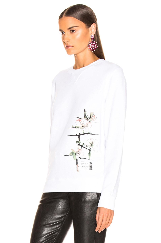 Image 4 of Loewe Logo Botanical Sweatshirt in White