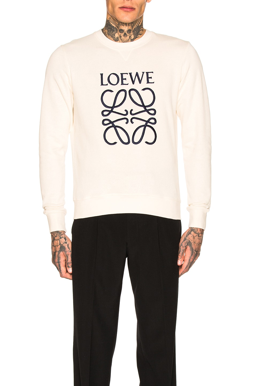 Image 1 of Loewe Anagram Sweatshirt in Off-White