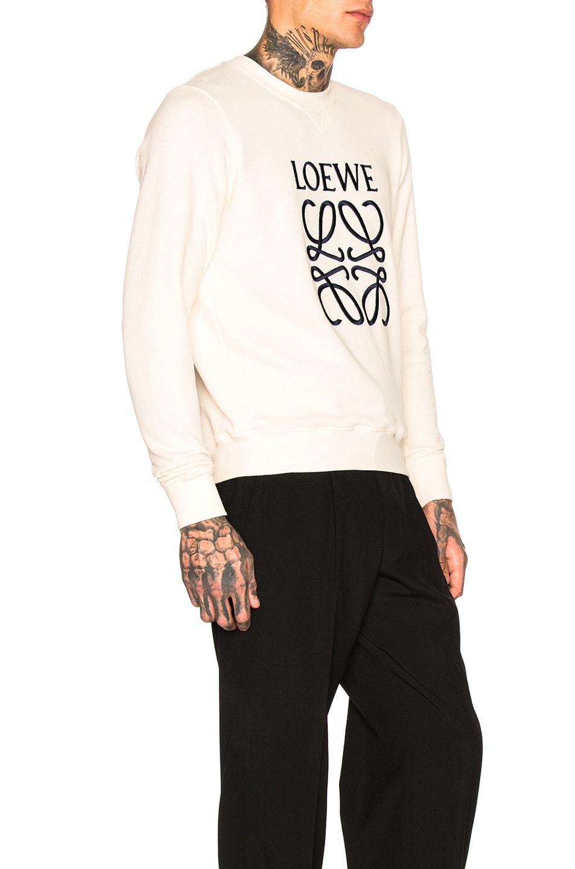 Image 2 of Loewe Anagram Sweatshirt in Off-White