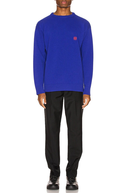 Image 4 of Loewe Anagram Sweater in Blue