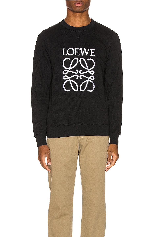 Image 1 of Loewe Anagram Sweatshirt in Black
