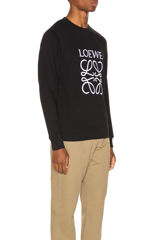 Image 2 of Loewe Anagram Sweatshirt in Black
