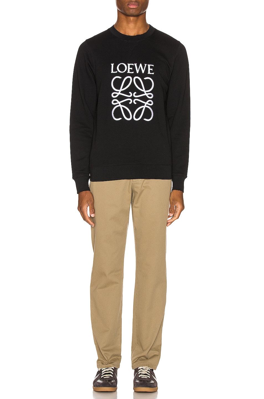 Image 4 of Loewe Anagram Sweatshirt in Black