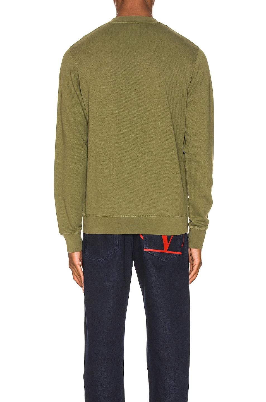 Image 3 of Loewe Flower Anagram Sweatshirt in Military Green
