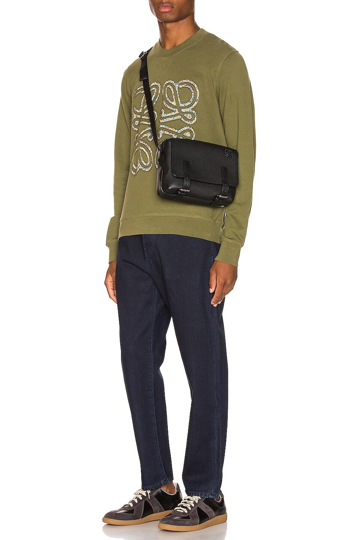 Image 4 of Loewe Flower Anagram Sweatshirt in Military Green