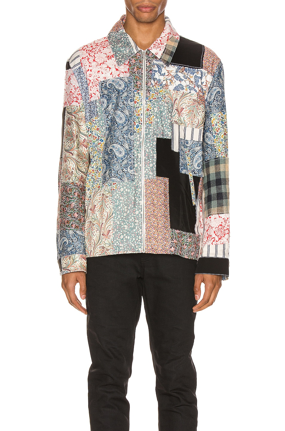 Image 1 of Loewe Zip Patchwork Jacket in Multi