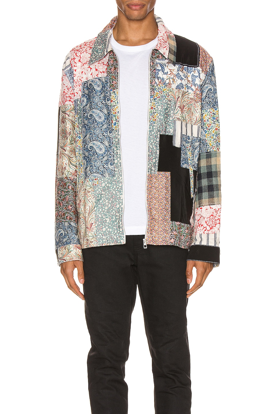 Image 2 of Loewe Zip Patchwork Jacket in Multi