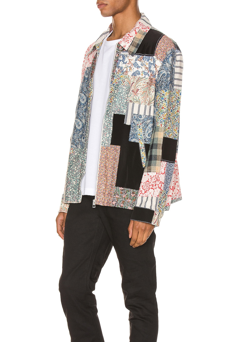 Image 4 of Loewe Zip Patchwork Jacket in Multi