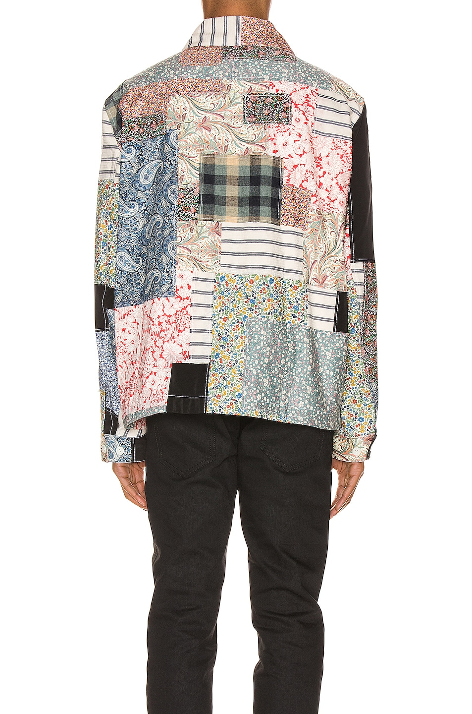 Image 5 of Loewe Zip Patchwork Jacket in Multi