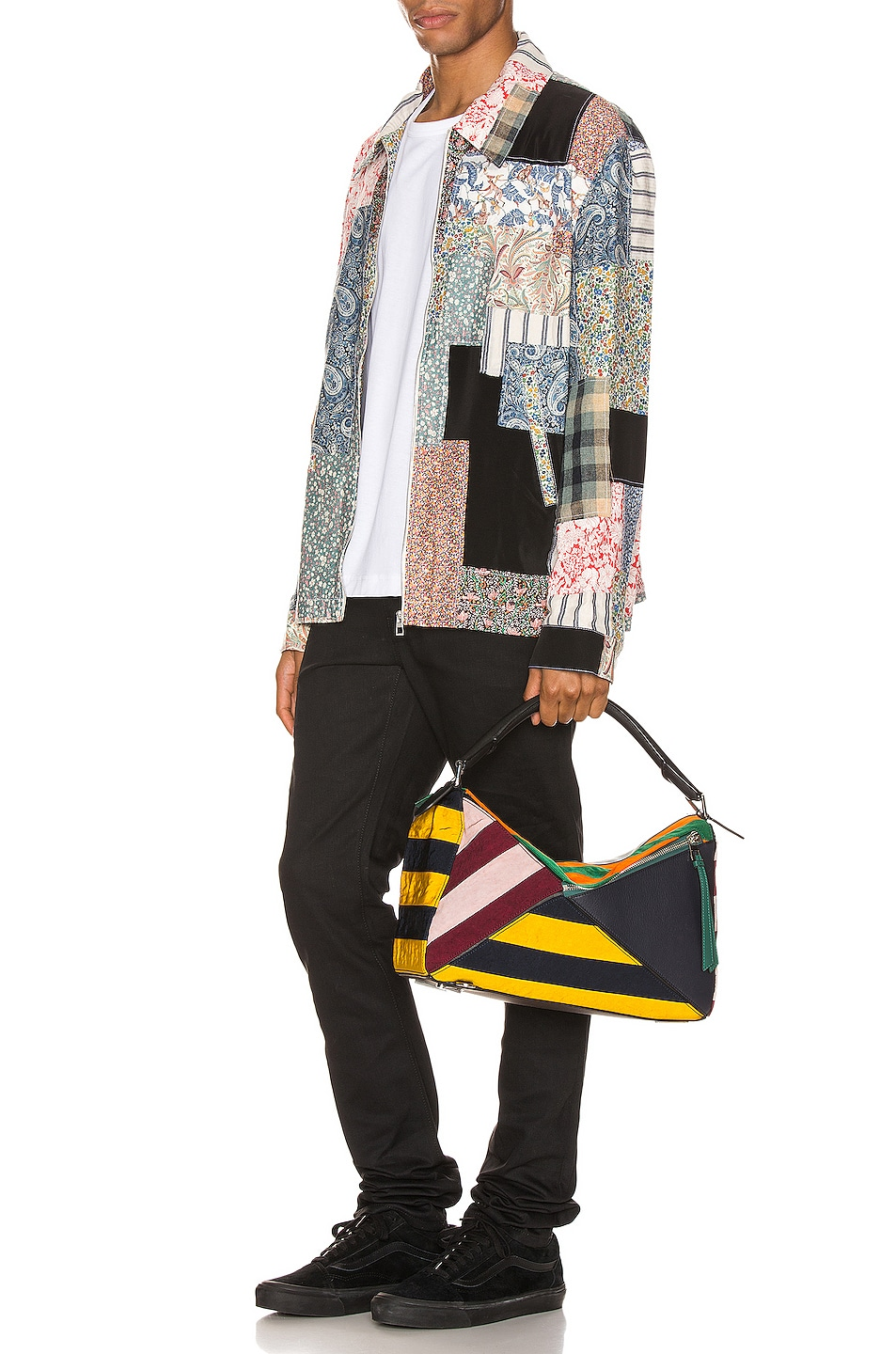 Image 6 of Loewe Zip Patchwork Jacket in Multi