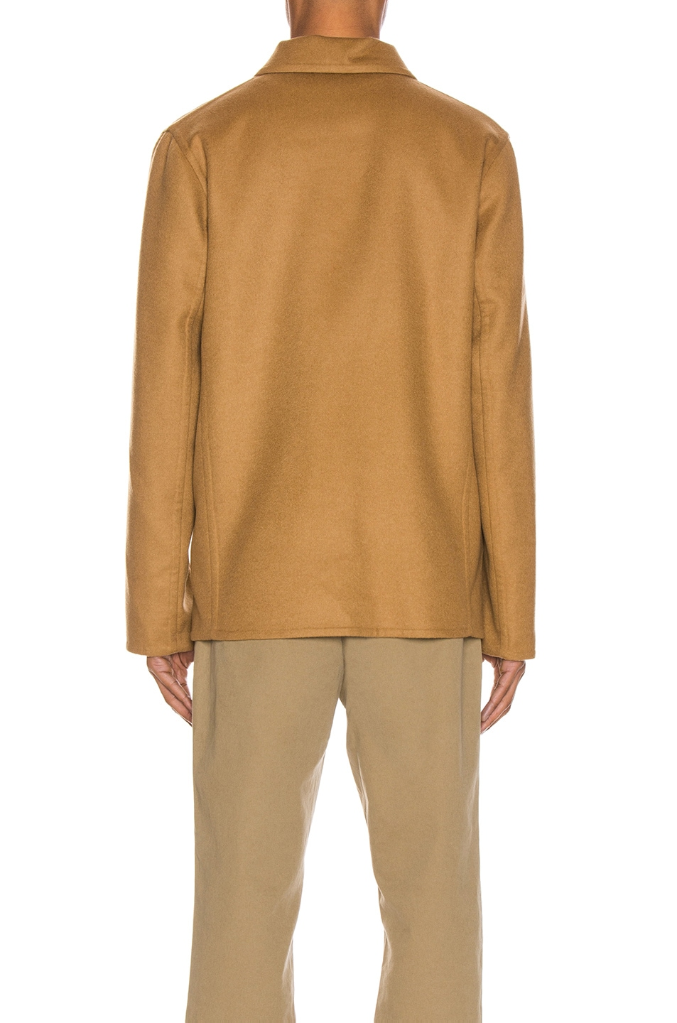 Image 5 of Loewe Button Jacket Patch Pockets in Camel