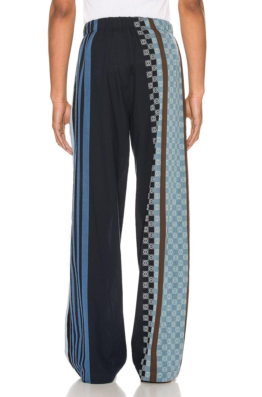 Image 4 of Loewe Stripe Anagram Trousers in Navy Blue & Multi