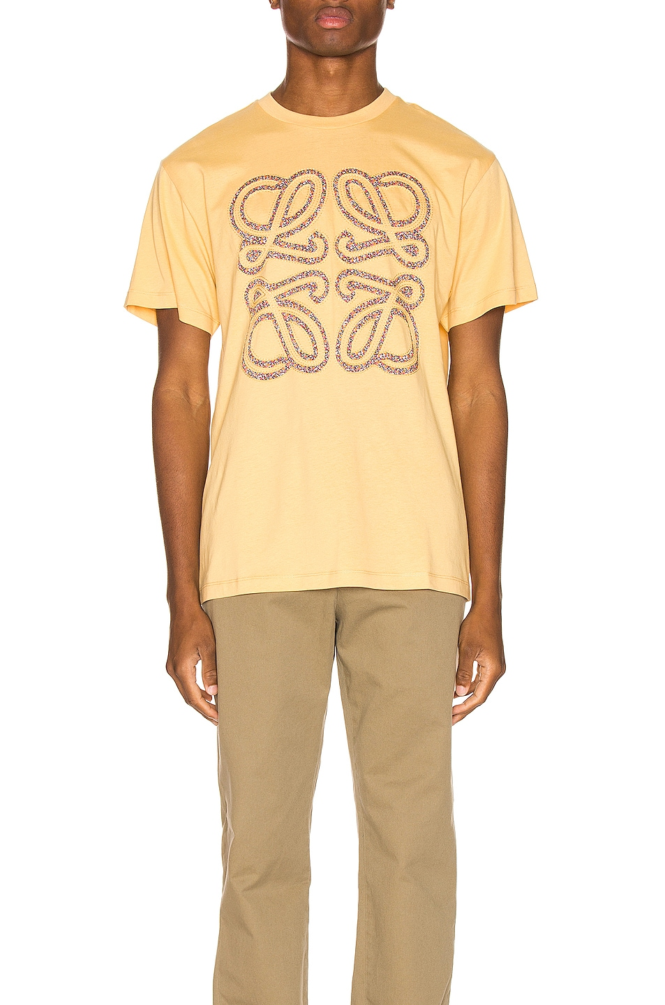 Image 1 of Loewe Flower Anagram Patch Tee in Light Yellow