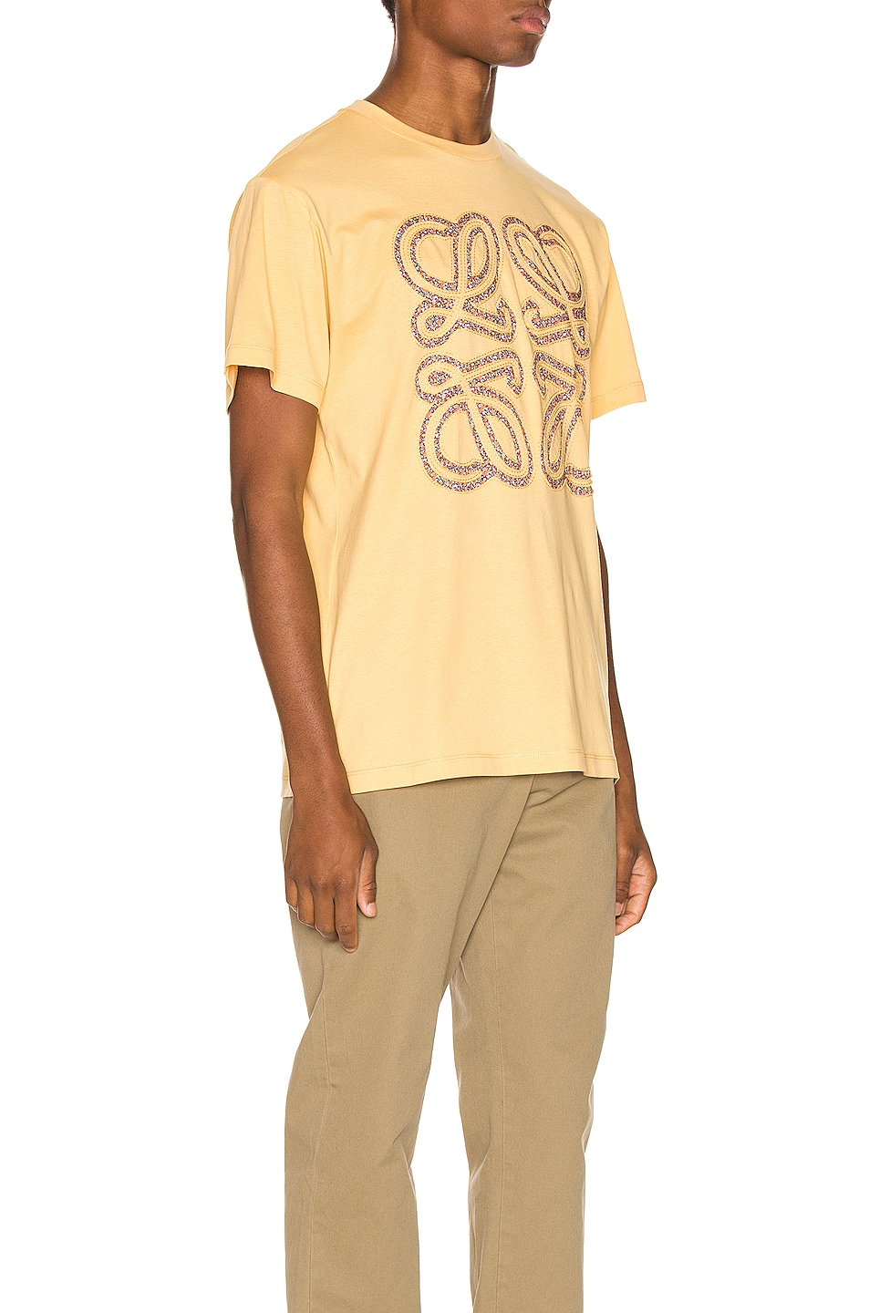 Image 2 of Loewe Flower Anagram Patch Tee in Light Yellow