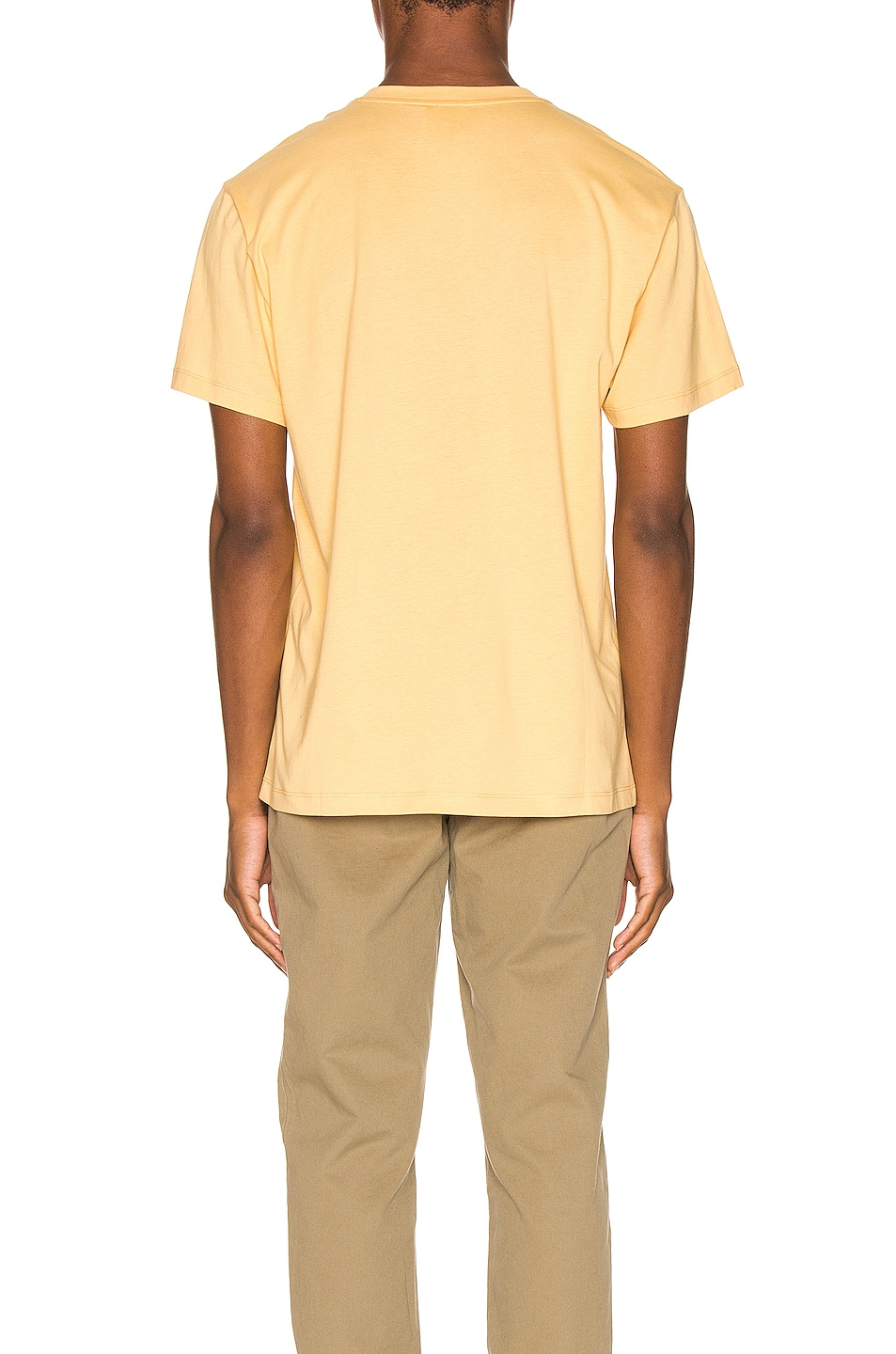 Image 3 of Loewe Flower Anagram Patch Tee in Light Yellow