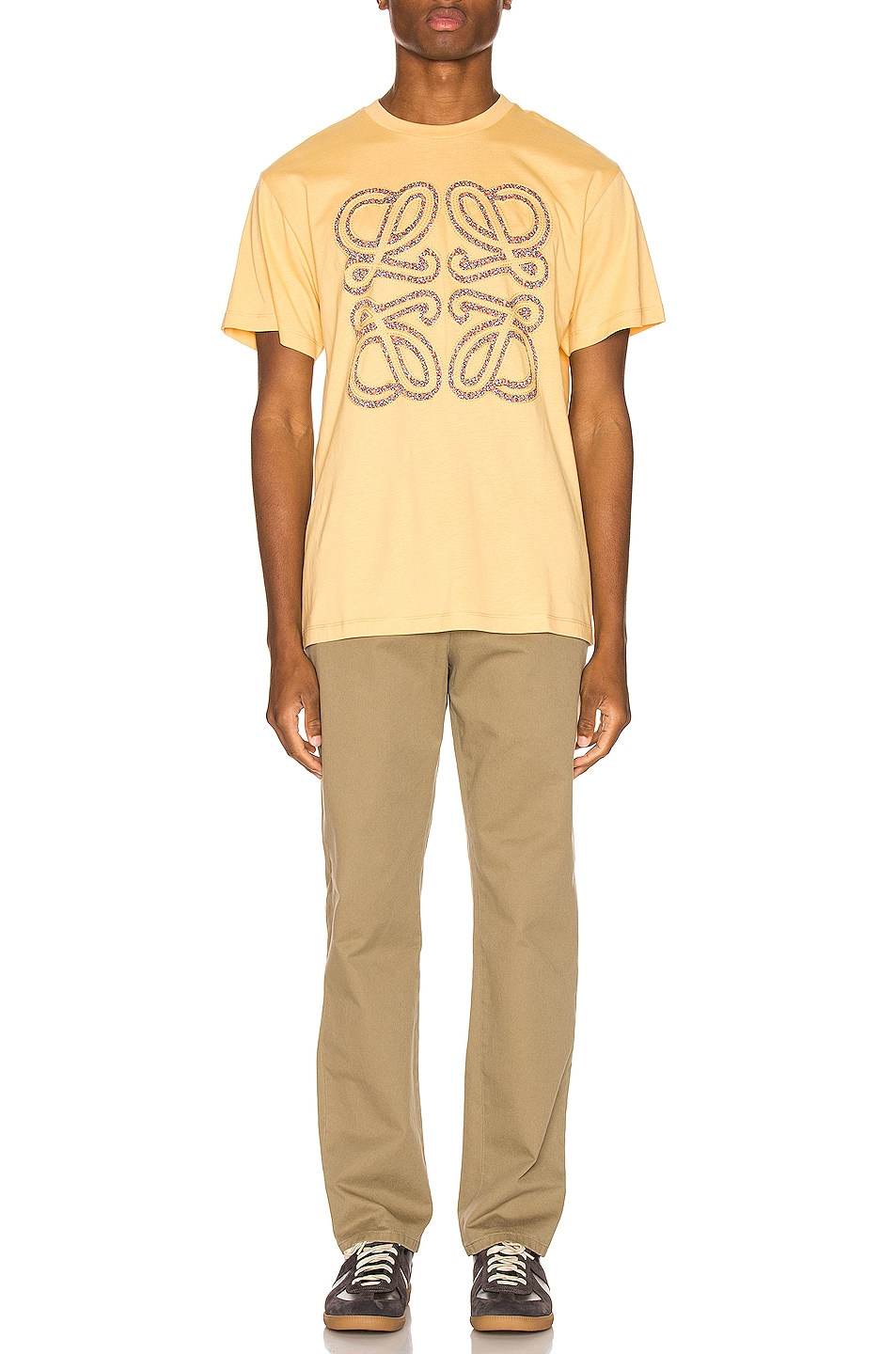 Image 4 of Loewe Flower Anagram Patch Tee in Light Yellow