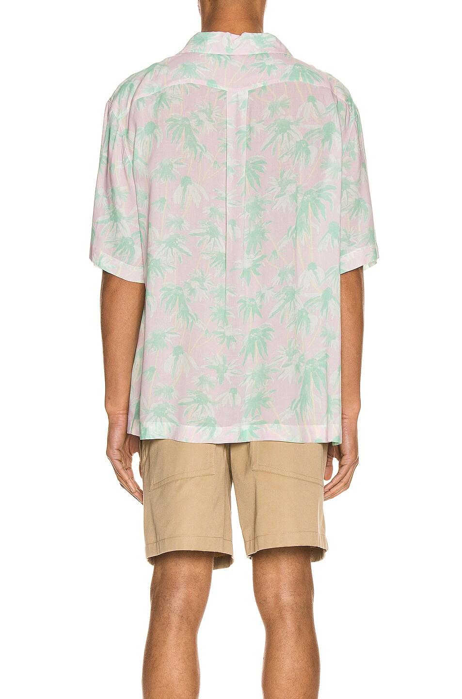 Image 3 of Loewe Daisy Print Bowling Shirt in Pink & Light Green