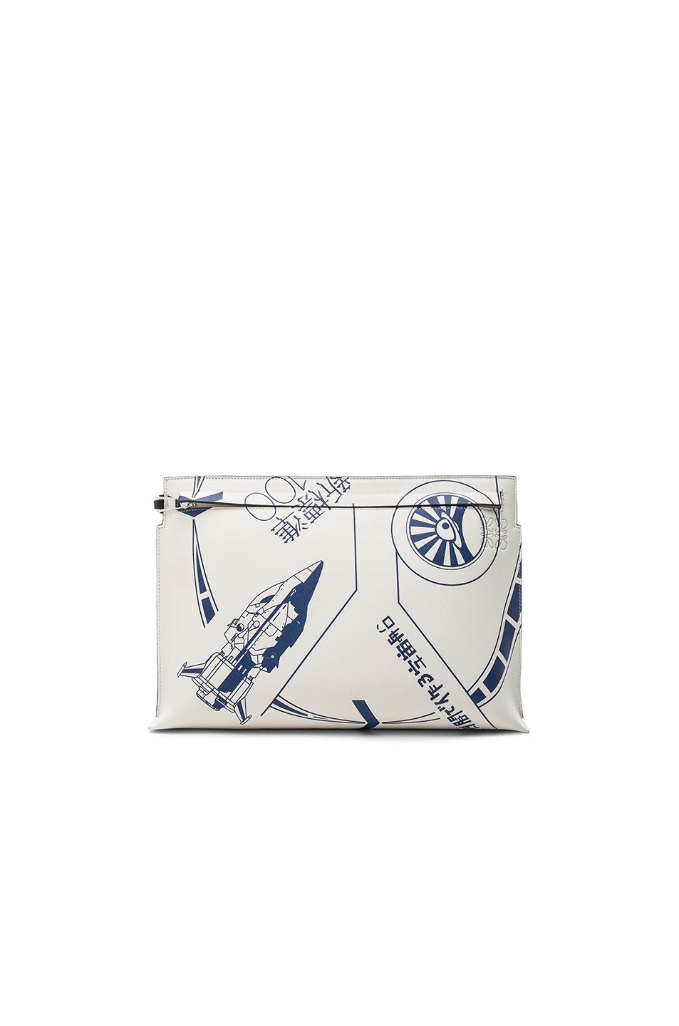 Image 1 of Loewe Galaxy Large Pouch in White & Blue