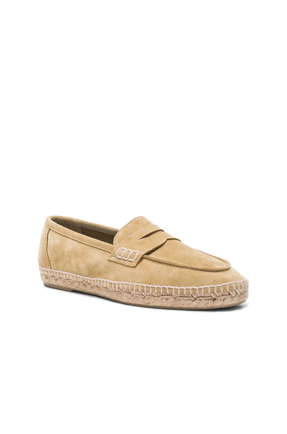aac297f91 Image 1 of Loewe Suede Loafer Espadrilles in Gold