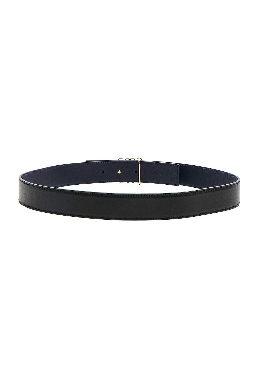 Image 3 of Loewe Anagram Belt in Black, Navy & Gold