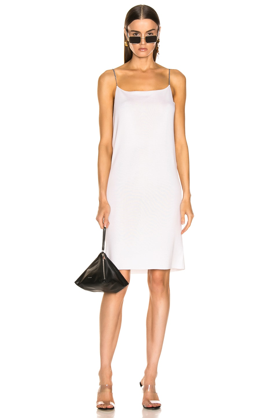 Image 1 of Loewe Short Strappy Knit Dress in Ecru & Black