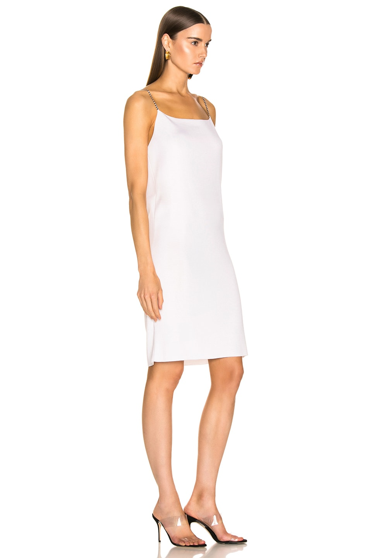 Image 2 of Loewe Short Strappy Knit Dress in Ecru & Black