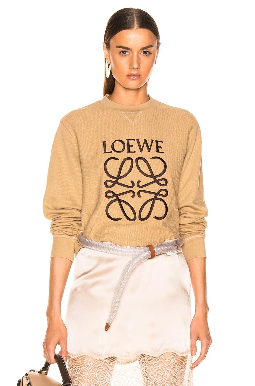 Image 1 of Loewe Anagram Sweatshirt in Beige