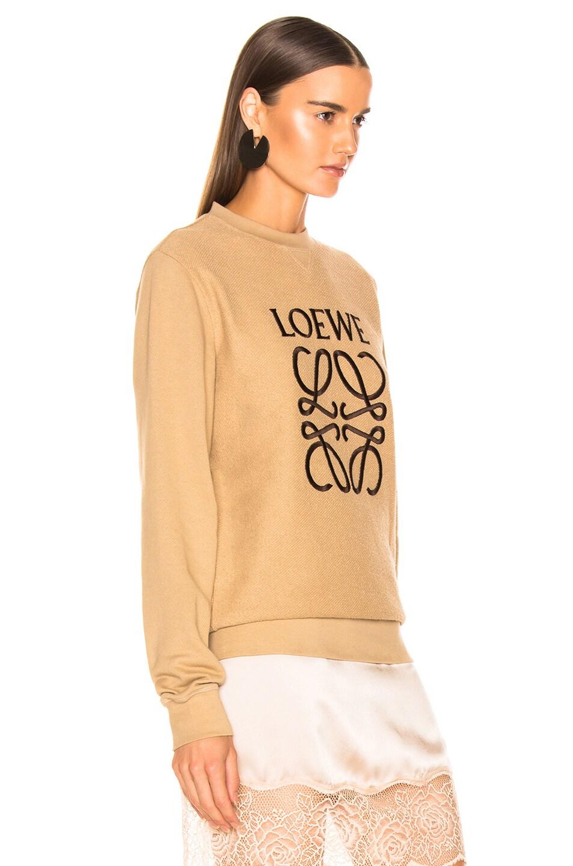 Image 2 of Loewe Anagram Sweatshirt in Beige