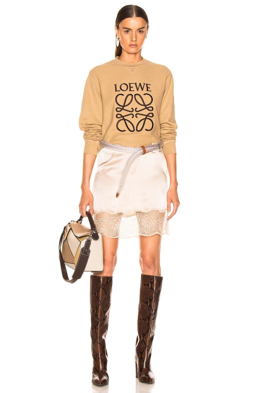 Image 4 of Loewe Anagram Sweatshirt in Beige