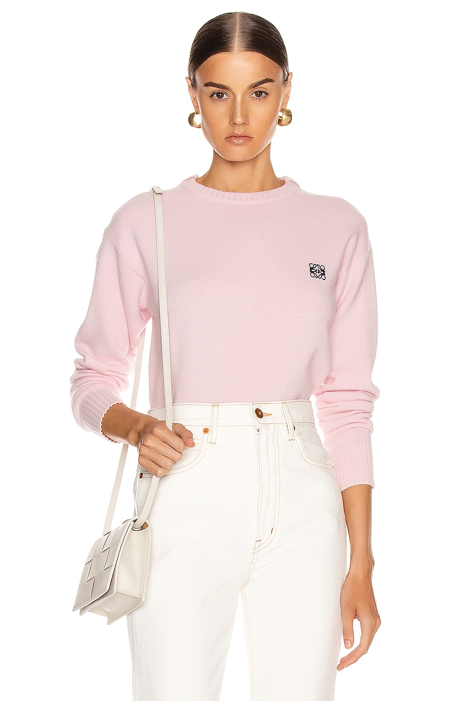 Image 1 of Loewe Cashmere Anagram Sweater in Pink