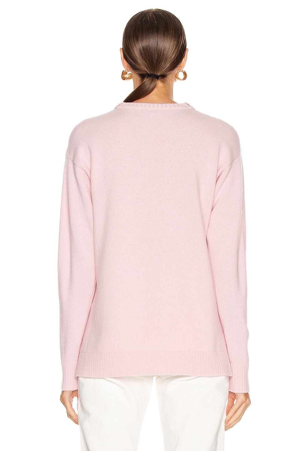 Image 3 of Loewe Cashmere Anagram Sweater in Pink