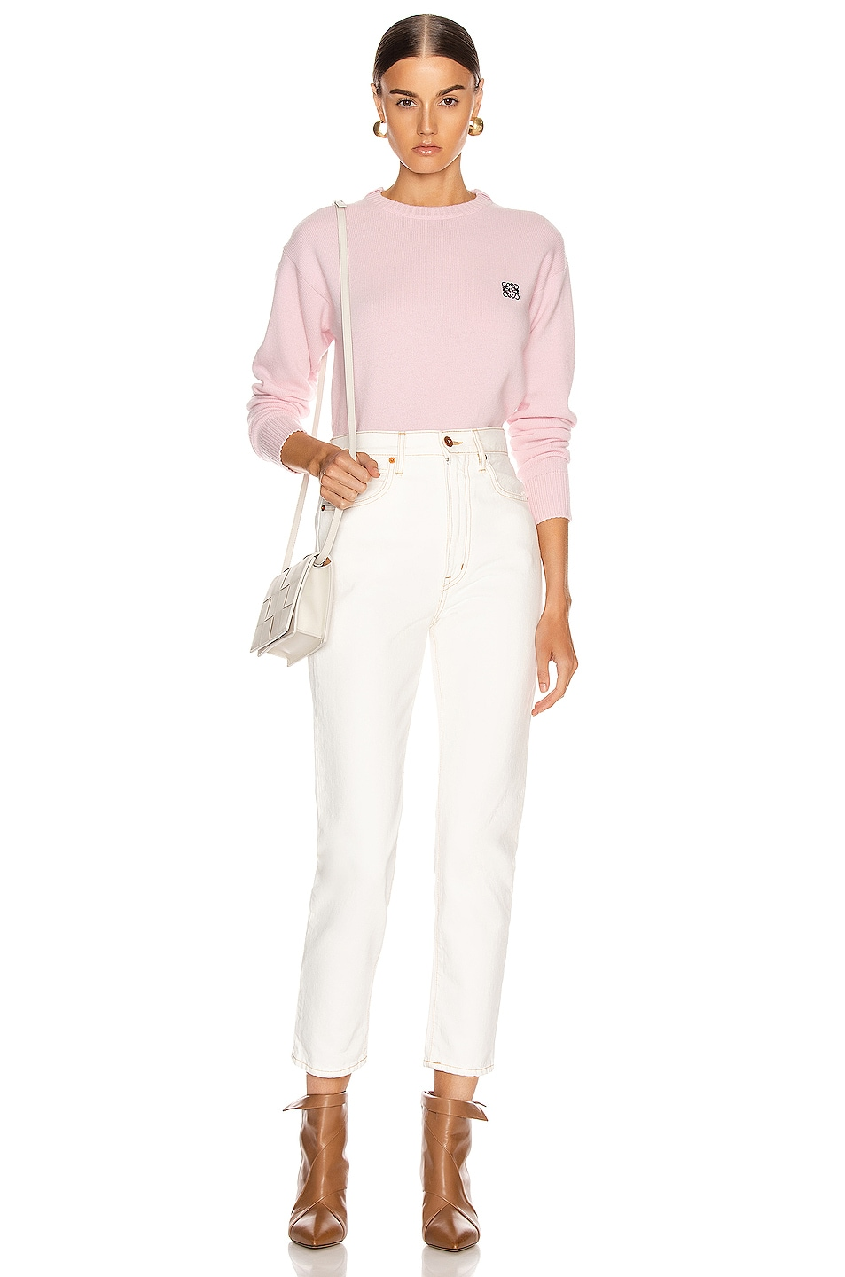 Image 4 of Loewe Cashmere Anagram Sweater in Pink