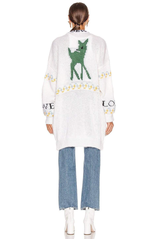 Image 4 of Loewe Deer Oversized Cardigan in Ecru