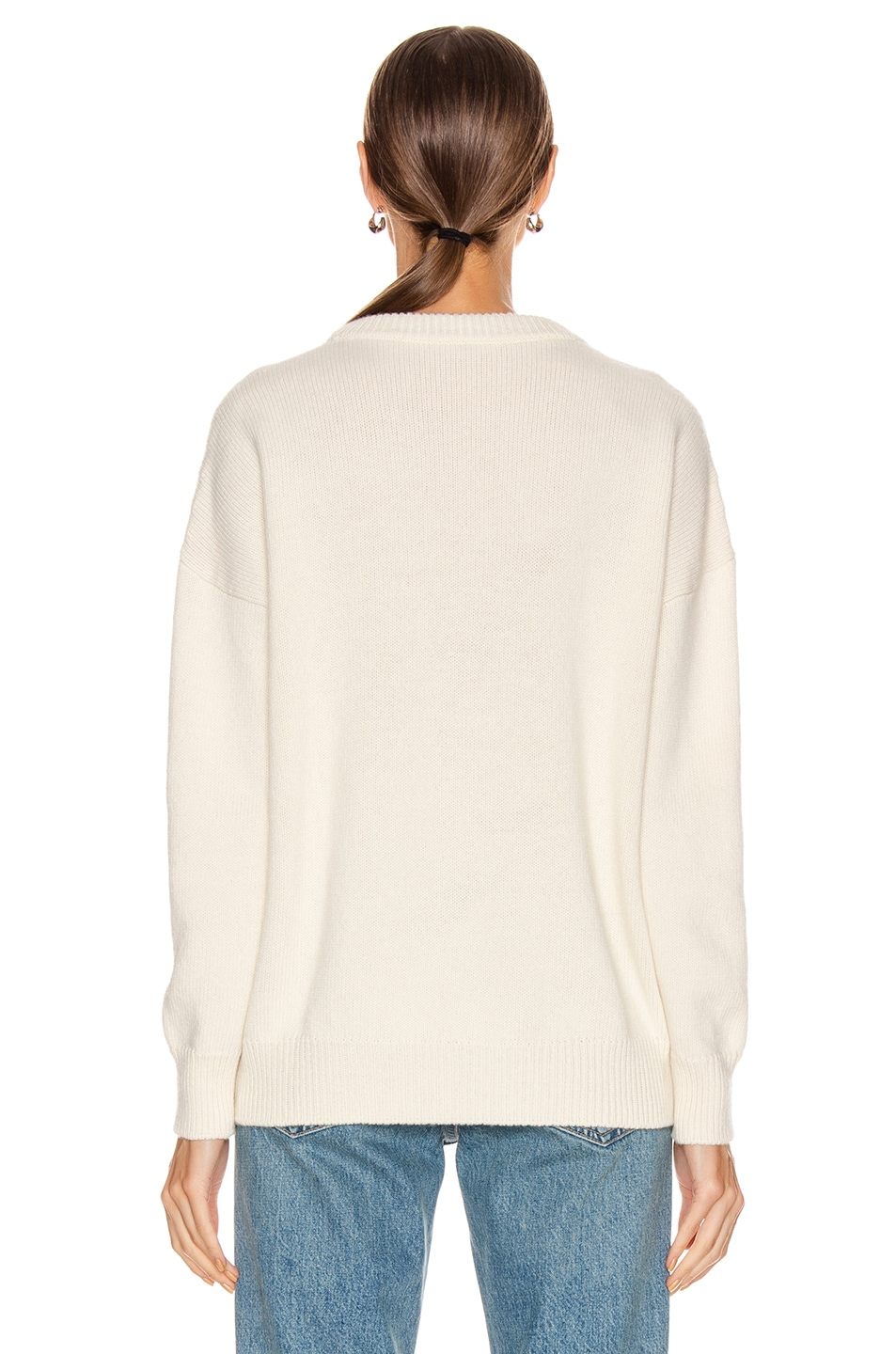 Image 3 of Loewe Pompom Loewe Sweater in White & Red