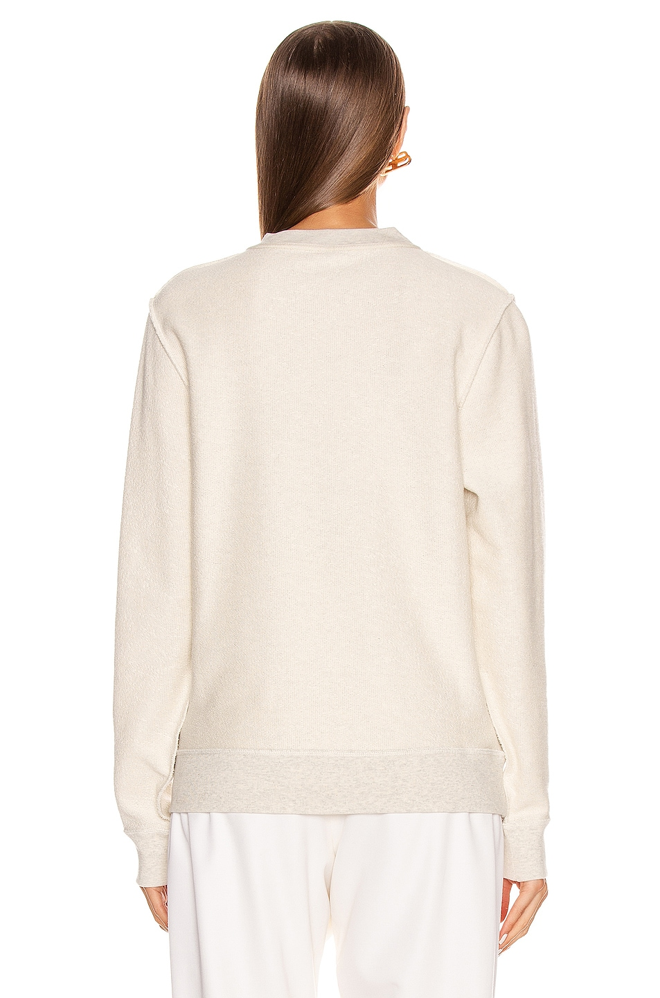 Image 3 of Loewe Anagram Sweatshirt in Ecru & Black