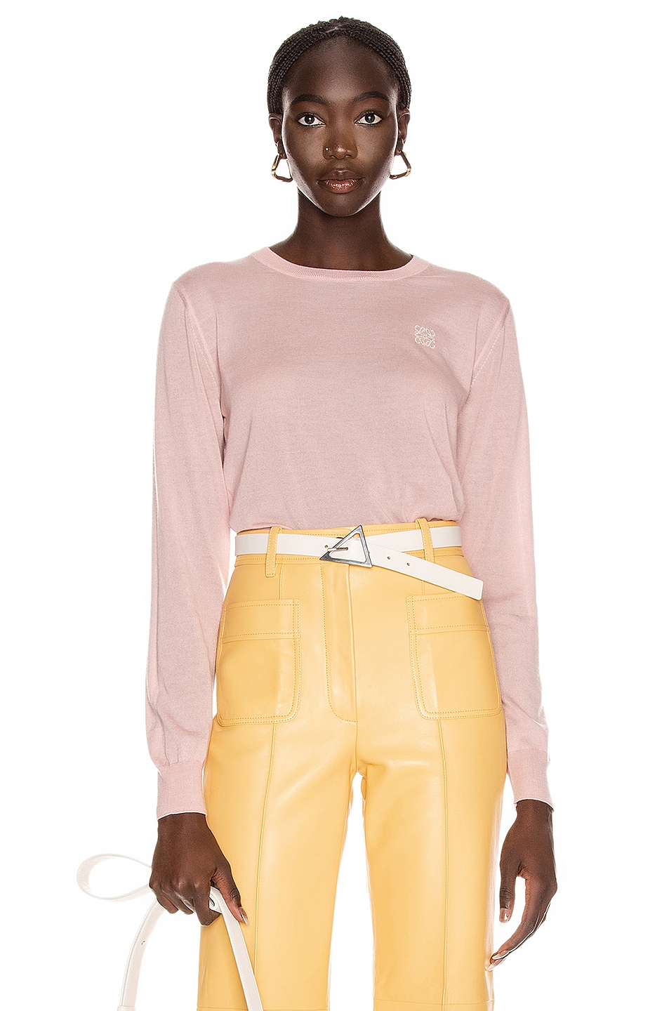 Image 1 of Loewe Anagram Sweater in Baby Pink